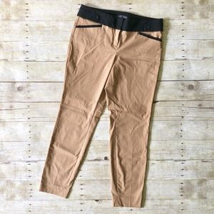 The Limited Exact Stretch Tan/Black Ankle Pants